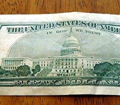 Купюра в 50 долларов США. Архивное фото