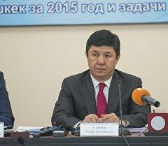 Премьер-министр Темир Сариев мэриянын коллегиясында. Архив
