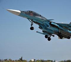 Россиянын аскер-космостук күчтөрүнүн Су-34 учагы. Архив