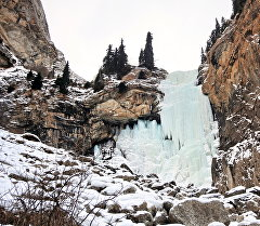 Ледяные водопады Кыргызстана. Архивное фото