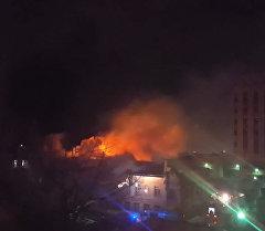 Пожар в швейном цехе на востоке Москвы