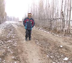 Баткендин Бүжүм айылындагы окуучулар 4 чакырым жөө басып билим алышат