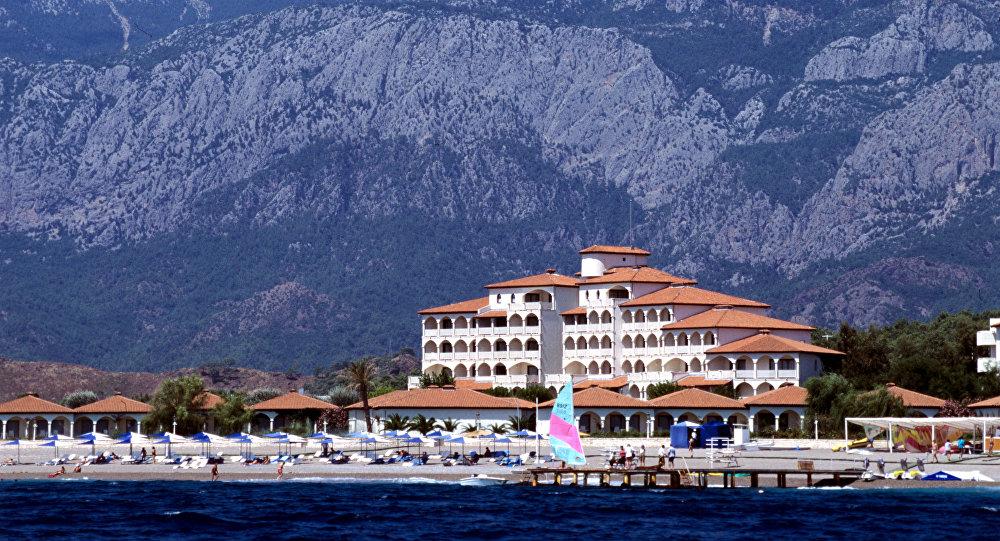Новые гостиничные комплексы на берегу Средиземного моря. Анталия. Архивное фото