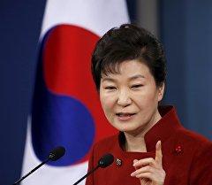11-й президент Республики Корея Пак Кын Хе в Сеуле. Архивное фото