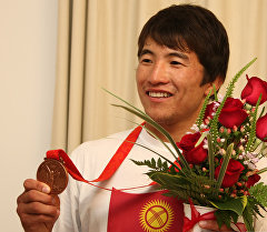 Архивное фото олимпийского призера Руслана Тюменбаева