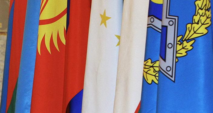Флаги стран участников ОДКБ. Архивное фото