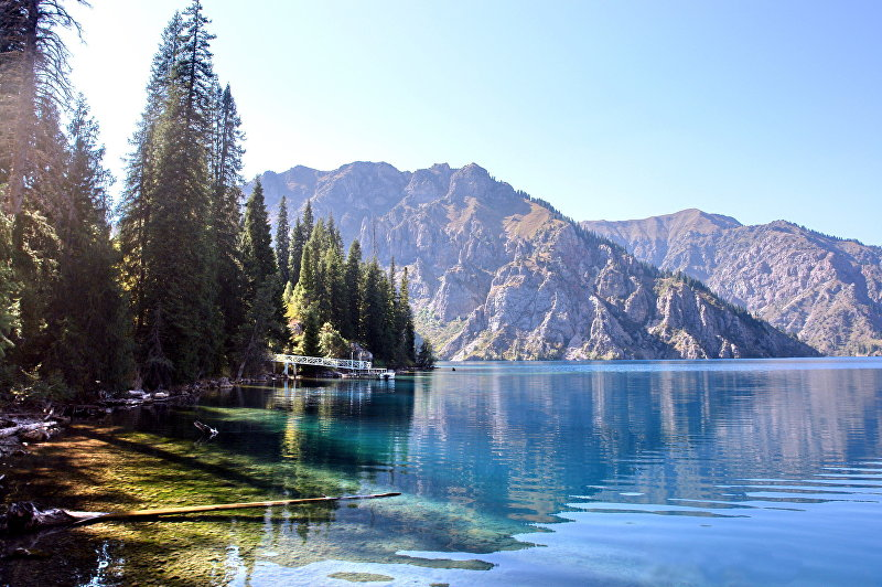 Озеро Сары-Челек в Джалал-Абадской области