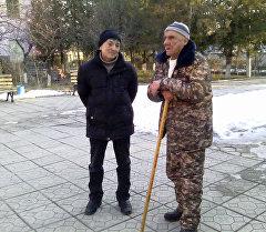 Николай Зуев в доме для престарелых.