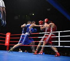 Боксеры во время боя. Архивное фото