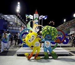 Винисиус и Том — талисманы Олимпийских и Паралимпийских игр 2016 в Рио-де-Жанейро. Архивное фото