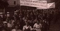 Народы прибалтийских республик празднуют вступление в СССР. Съемки 1940 года