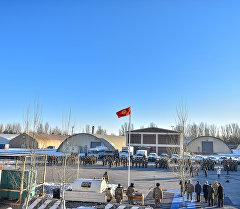 Мурунку Манас транзиттик жүк ташуучу борбору. Архив