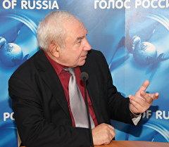 Ветеран Гостелерадио СССР диктор Евгений Грачев. Архивное фото