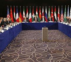Участники заседания международной группы поддержки по Сирии в Мюнхене