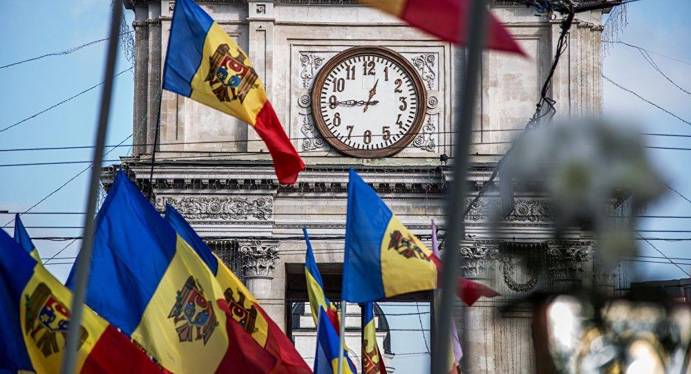 Флаг Молдовы в Кишиневе. Архивное фото