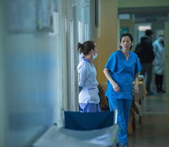 Сотрудницы больницы. Архивное фото