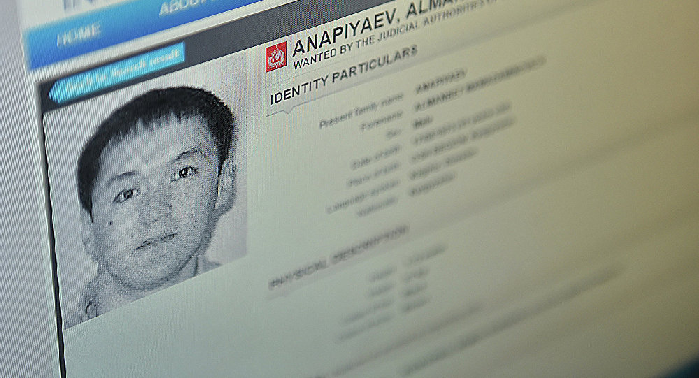 Страница сайта интерпола с ориентировкой на Анапияева