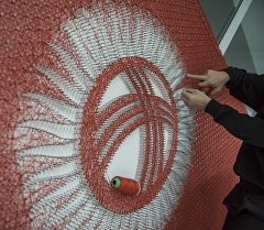 String art ыкмасы менен жасалган желек. Архив