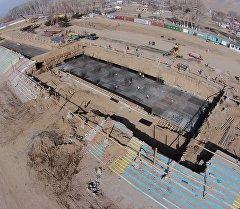 Строительство нового ипподрома на Иссык-Куле. Архивное фото