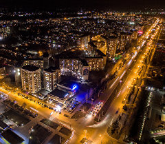 Ночной Бишкек. Кадры с высоты птичьего полета