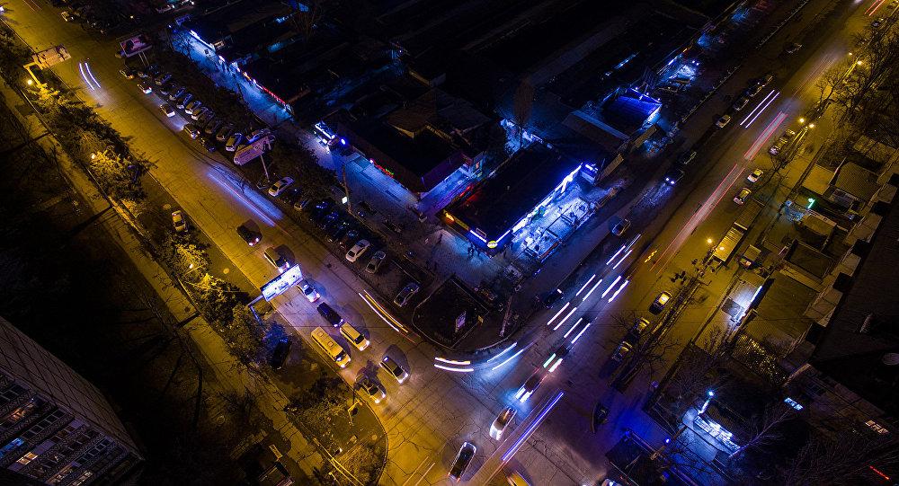 Ночной Бишкек. Архивное фото