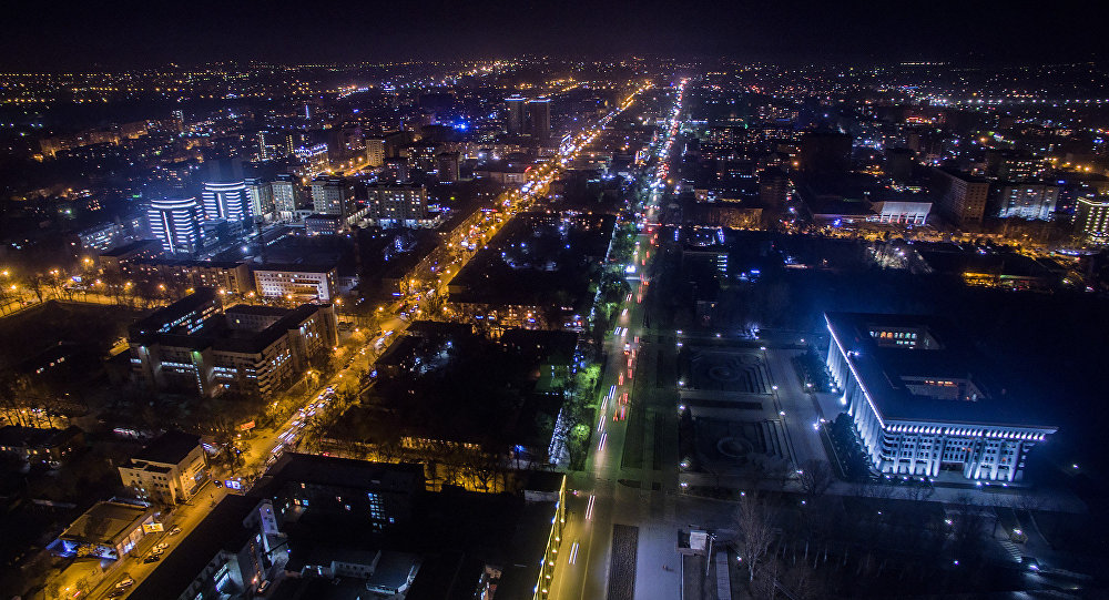 Түнкү Бишкек. Архивдик сүрөт