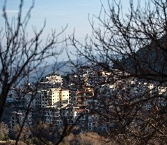 Кесаб шаарына көрүнүш, Сирия. Архив