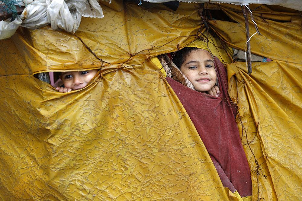 Лагерь для беженцев в секторе Газа