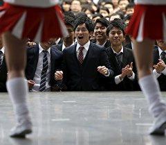 Ежегодный сезон поиска работы выпускников ВУЗов в Токио