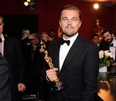 Актер Леонардо ди Каприо Оскар сыйлыгын алуу учурунда.