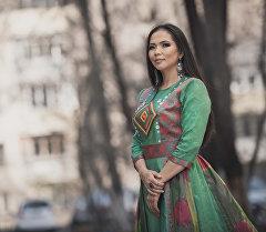 Эстрадная певица Гулзада Рыскулова. Архивное фото