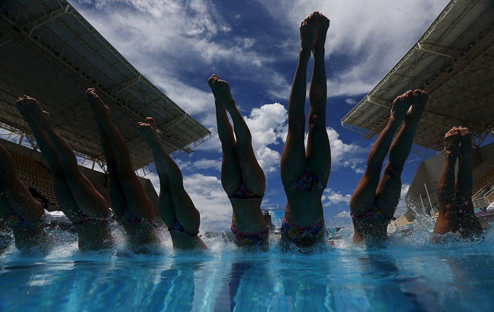 Предолимпийский квалификационный турнир по синхронному плаванию в Рио-де-Жанейро