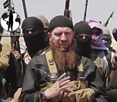 Один из главарей террористической группировки Исламское государство Абу Омар аш-Шишани. Архивное фото