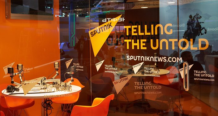Павильон международного информационного бренда Sputnik. Архивное фото