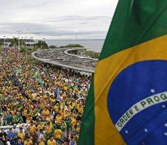 Бразилия боюнча өткөн митинг.