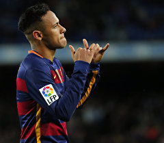 Бразильский футболист, нападающий клуба Барселона Неймар. Архивное фото