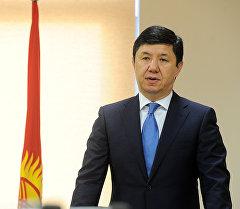 Архивное фото премьер-министра Кыргызской Республики Темира Сариева