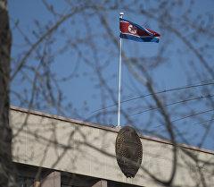 Түндүк Кореянын желеги. Архивдик сүрөт