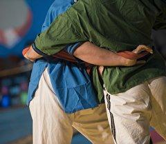 Борцы во время международного турнира по алышу. Архивное фото
