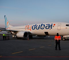 Flydubai авиакомпаниясынын учагы. Архив