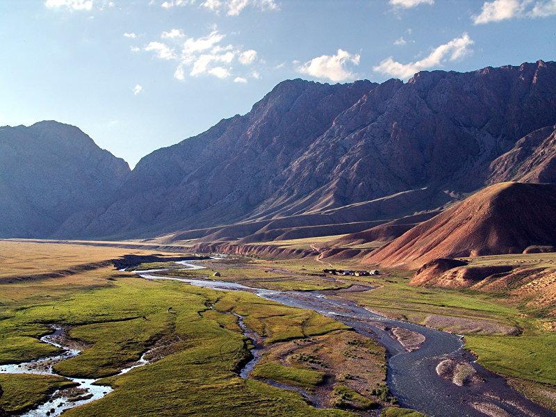 Река Кажырты в Нарынской области