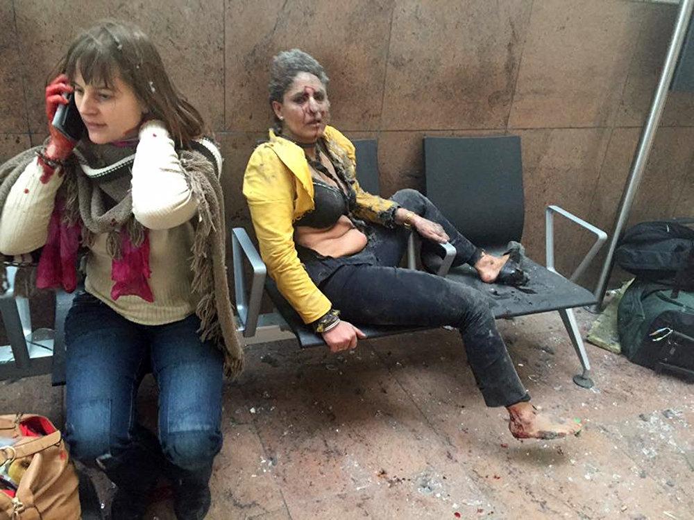 Взрывы в аэропорту Завентем недалеко от Брюсселя Бельгия