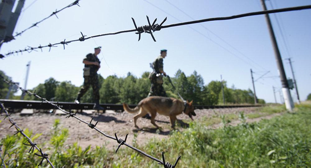 Пограничники на границе. Архивное фото
