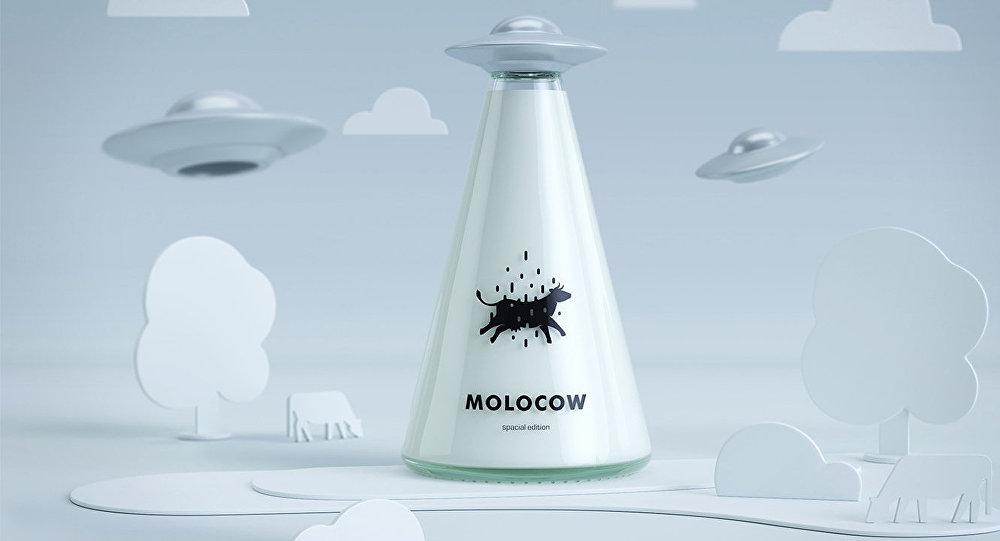 Концепт упаковки молока Molocow, созданный кыргызскими дизайнерами