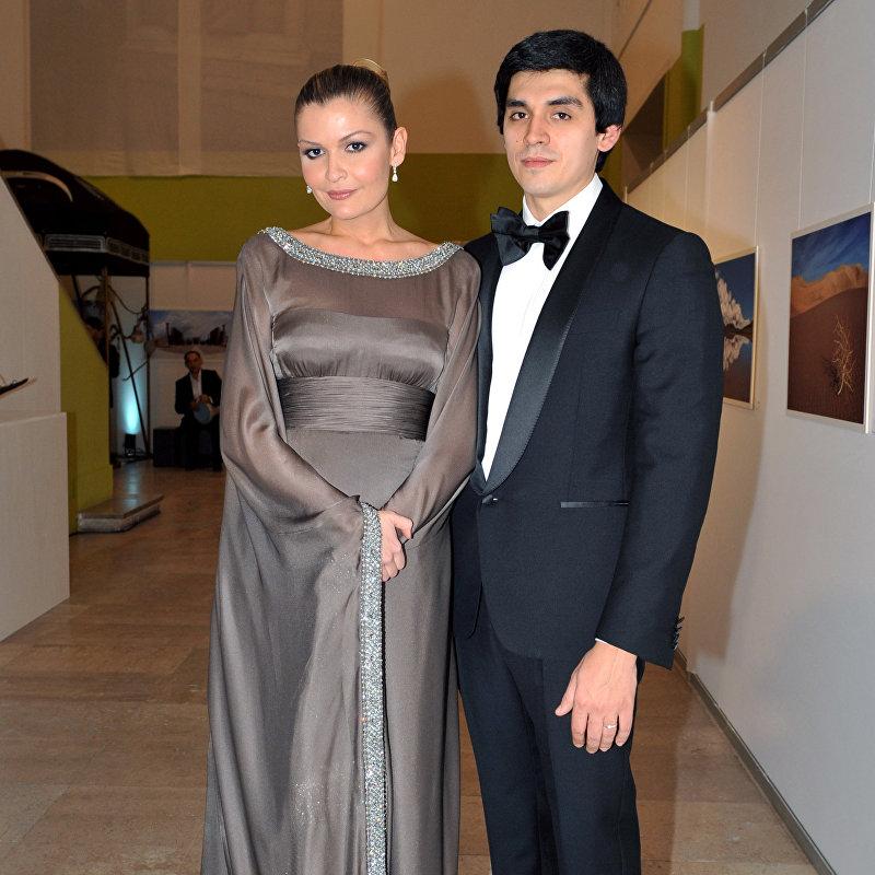 Младшая дочь президента Узбекистана Ислама Каримова - Лола Каримова с супругом Тимуром Тилляевым