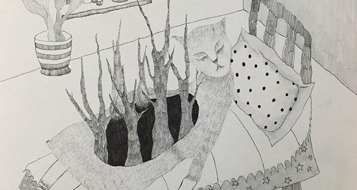 Картина художницы из Бишкека Алии Шагиевой