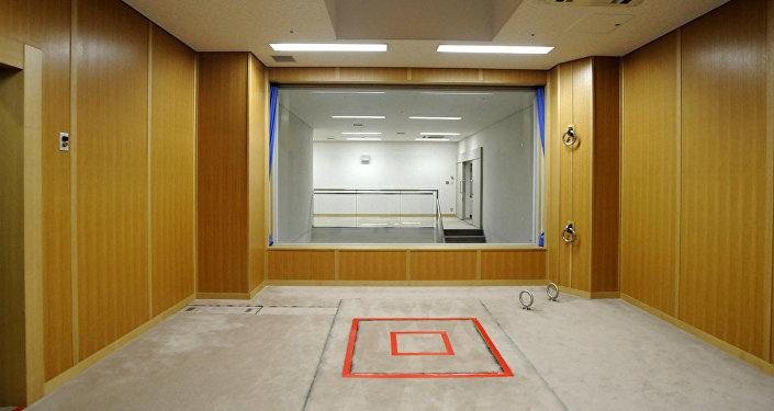 Комната для исполнения смертной казни в следственном изоляторе в Токио, Япония. Архивное фото
