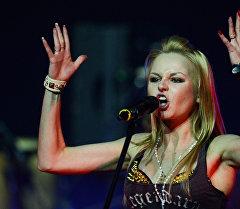 Певица Алиса Вокс выступает на концерте группы Ленинград. Архивное фото
