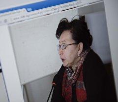 Улуттук банкынын расмий сайтынан тартылган сүрөт. Бактыгүл Жээнбаева. Архив