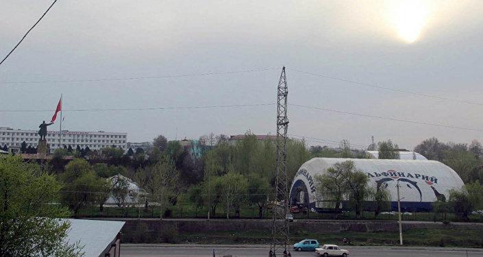 Работы по установке дельфинария проводятся в течение недели, основной купол установлен сегодня